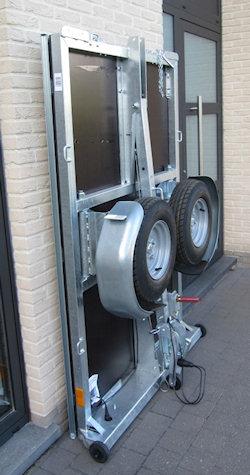 walltrailer opgeplooid 38 cm